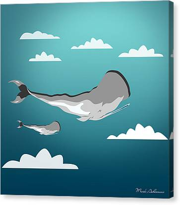 Caricature Canvas Print - Whale 7 by Mark Ashkenazi