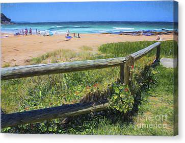 Whale Beach Sydney Canvas Print by Avalon Fine Art Photography