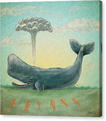 Whale Canvas Print by Diane Bradley