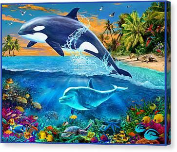 Whale Canvas Print by Jan Patrik Krasny