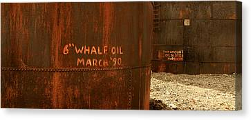 Whale Oil Tanks Canvas Print by Amanda Stadther