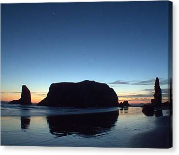 Canvas Print featuring the photograph Whale Rock by Suzy Piatt