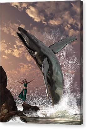 Aquatic Canvas Print - Whale Watcher by Daniel Eskridge