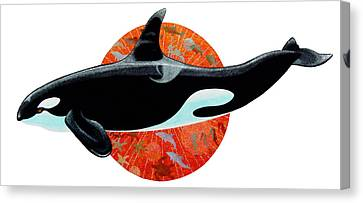 Whale Watching Canvas Print by David  Chapple
