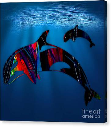 Whale Canvas Print - Whale Watching by Marvin Blaine