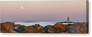 Whaleback Lighthouse Panorama Canvas Print by Eric Gendron