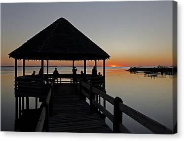 Canvas Print featuring the photograph Whalehead Sunset Obx by Greg Reed
