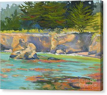 Whalers Cove Canvas Print - Whalers Cove Point Lobos by Rhett Regina Owings
