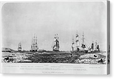 Whales And Whaling, 1871 Canvas Print by Granger