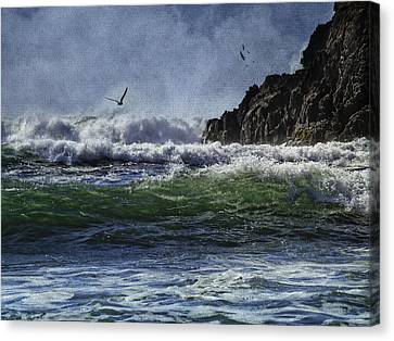 Whales Head Beach Southern Oregon Coast Canvas Print by Diane Schuster