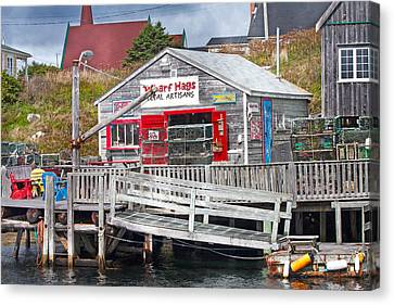 Bouys Canvas Print - Wharf Hags Peggy's Cove by Betsy Knapp