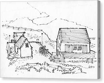 Wharf On Monhegan Island 1993 Canvas Print