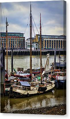 Wharf Ships Canvas Print by Heather Applegate