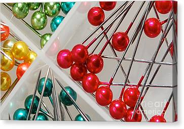 Canvas Print featuring the digital art What A Buncha Pinheads by Margie Chapman