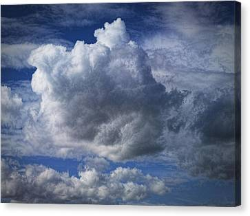 What A Cloud Canvas Print by Nafets Nuarb