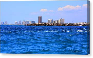 Panama City Beach Canvas Print - What A View by Debra Forand