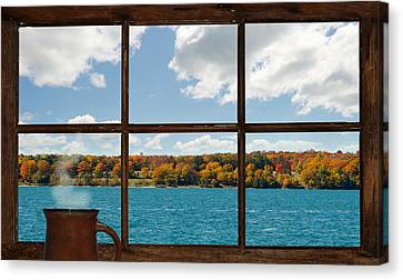 What A View. Canvas Print by Kelly Nelson