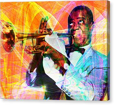 Kitschy Canvas Print - What A Wonderful World Louis Armstrong 20141218 by Wingsdomain Art and Photography