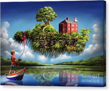 Canvas Print featuring the painting What A Wonderful World by S G