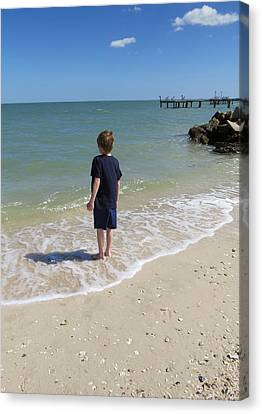 Canvas Print featuring the photograph What Boys Are Made Of by Ella Kaye Dickey