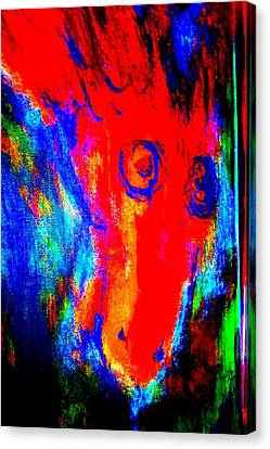 What Did You Say, I Said, But He Didn't Say    Canvas Print by Hilde Widerberg