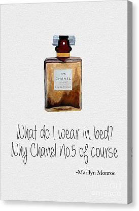 Monroe Canvas Print - What Do I Wear In Bed? by Rebecca Jenkins