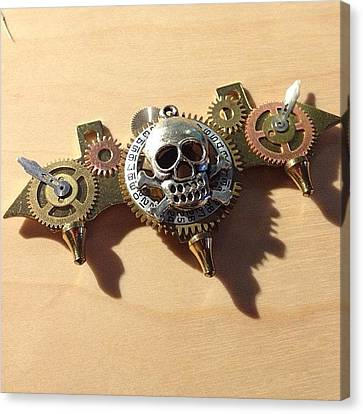 Steampunk Canvas Print - What Do You Think About My #steampunk by Erica Kuschel