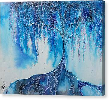 Canvas Print featuring the painting What Dreams May Come by Christy  Freeman