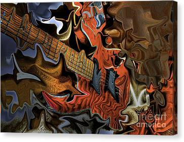 What Happened Last Night Digital Guitar Art By Steven Langston Canvas Print by Steven Lebron Langston