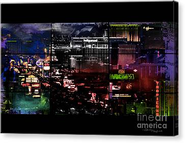 Island Stays Canvas Print - What Happens In Vegas... by Christine Mayfield