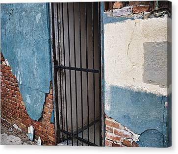 Canvas Print featuring the photograph What Horrors Lie Beyond This Entrance by Trever Miller