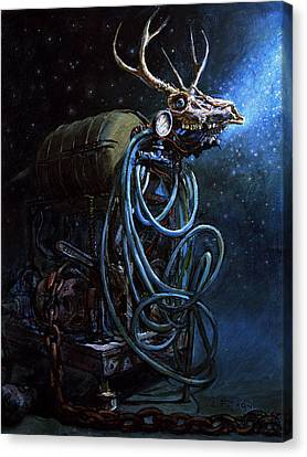 Fantasy Creatures Canvas Print - What If... by Frank Robert Dixon