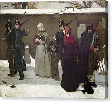 What Is Called Vagrancy Or, The Hunters Of Vincennes, 1854 Oil On Canvas Canvas Print