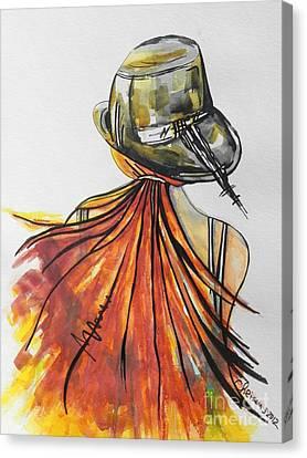 What Lies Ahead Series  I Found Me Canvas Print by Chrisann Ellis