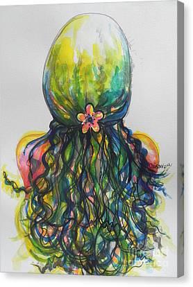 What Lies Ahead Series...tangled Up Canvas Print by Chrisann Ellis