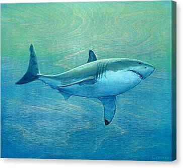 Nurse Shark Canvas Print - What Lurks Below by Nathan Ledyard