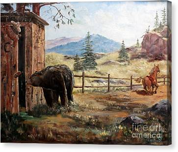 Canvas Print featuring the painting What Now by Lee Piper
