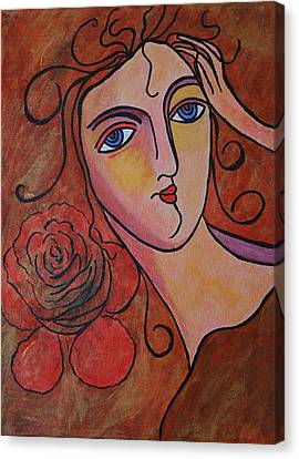 What Was Whispered To The Rose Canvas Print