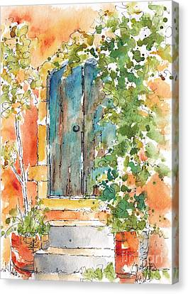 What's Behind That Door? Canvas Print by Pat Katz