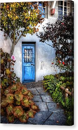 What's Behind The Blue Door   Basel Canvas Print by Carol Japp