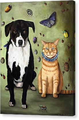 What's Bugging Luke And Molly Canvas Print by Leah Saulnier The Painting Maniac