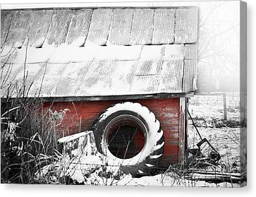 What's He Building In There Canvas Print by Matthew Blum