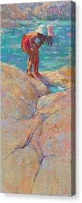 What's In The Rockpool? Canvas Print by Jackie Simmonds