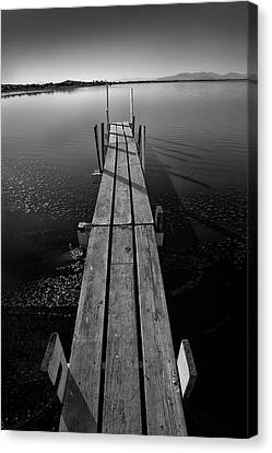 Whats Up Dock Canvas Print by Peter Tellone