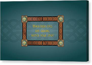 Whe Irish Eyes Are Smiling Canvas Print by Ireland Calling