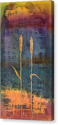 Wheat Couple Canvas Print by Carolyn Doe