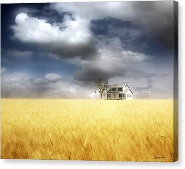 Wheat Field Canvas Print by Cynthia Decker