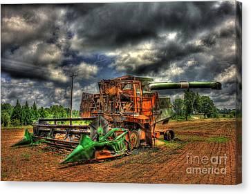 Wheat Field Fire 2 Canvas Print by Reid Callaway