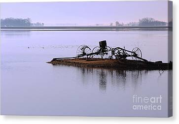 Wheat Field Under Water Canvas Print by Steve Augustin