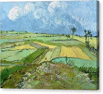 Wheat Fields After The Rain Canvas Print by Vincent van Gogh
